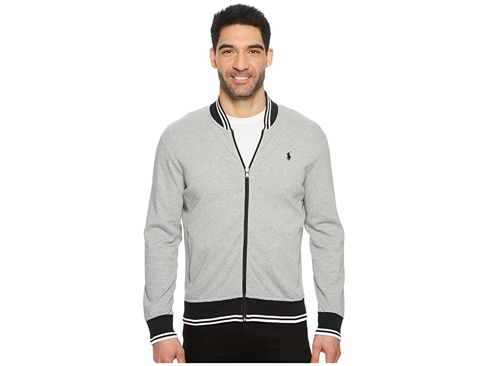 Polo Ralph Lauren Interlock Long Sleeve Knit Jacket (Andover Heather) Men