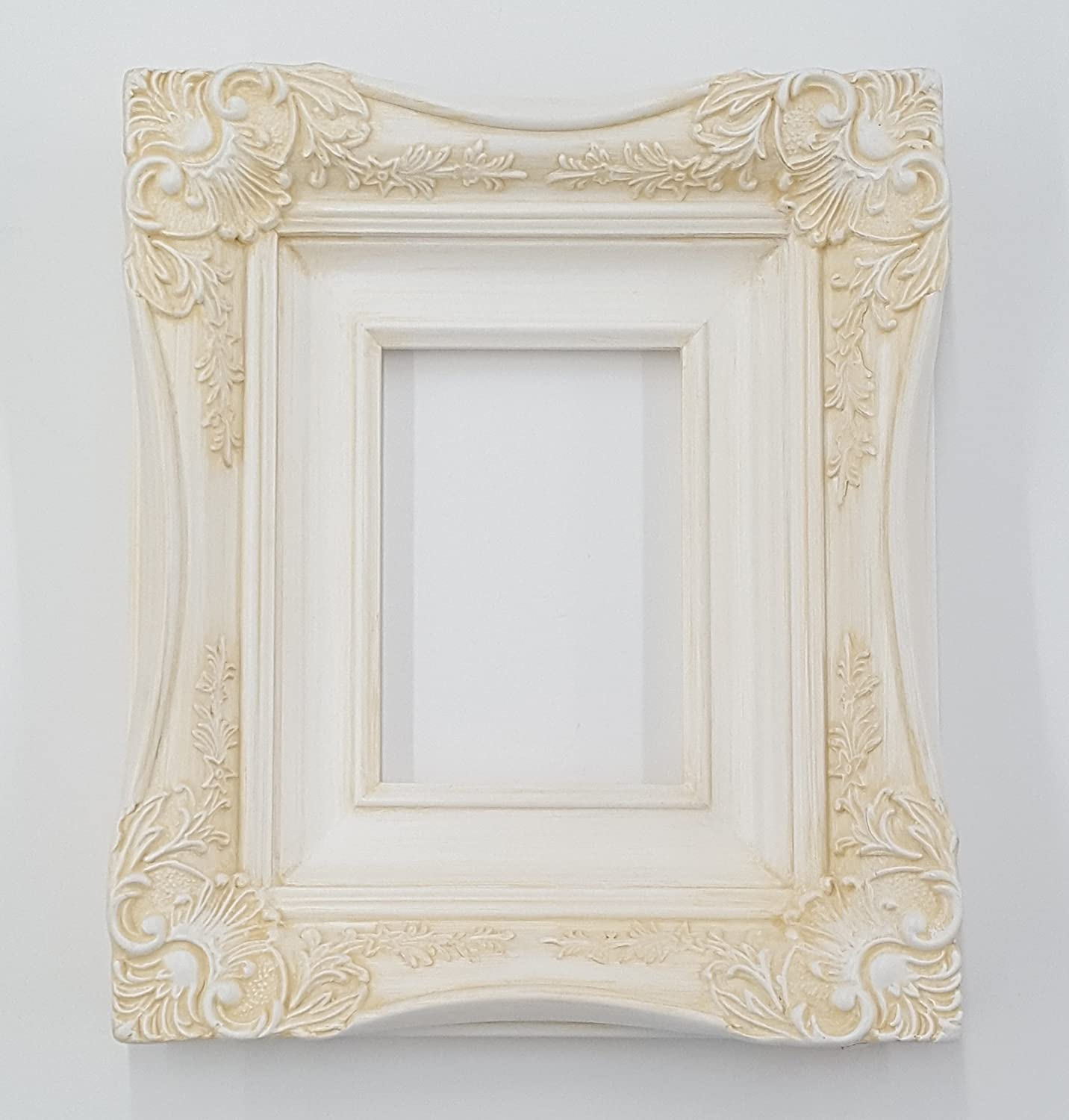 Ornate Chic Picture Frame Photo Frames 7//8  inch Table Stand Black White