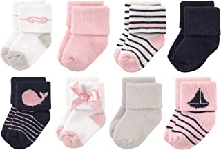 Luvable Friends Unisex Baby Newborn and Baby Terry Socks, Sailboat, 0-6 Months