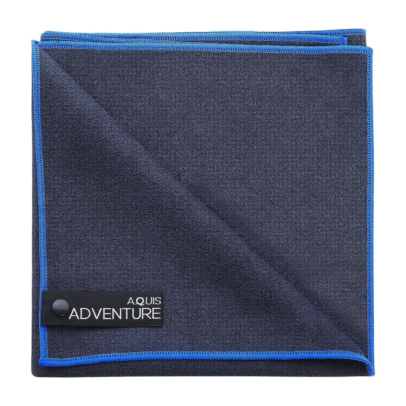 きつく母音ジムAquis Adventure Mediumタオル?–?avg7130 L ブルー AVG1130BKB