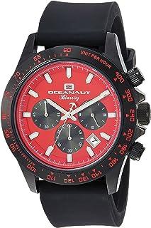 ساعة اوشينت باريتز للرجال من ستانلس ستيل كوارتز مع حزام مطاطي، لون أسود، 22 (OC6115R)