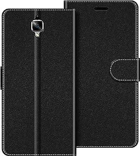 COODIO Funda OnePlus 3 con Tapa, Funda Movil OnePlus 3, Funda Libro OnePlus 3 Carcasa Magnético Funda para OnePlus 3 / OnePlud 3T, Negro