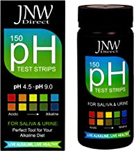 pH Test Strips for Urine and Saliva Body pH Testing, 150 Count, Fast Easy and Accurate, Monitor Your Alkaline Weight Loss Diet, Medical Grade pH Test at Home