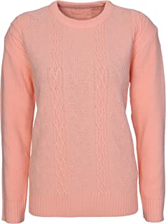 9e1b11748cd903 Lets Shop Shop New Womens Chunky Cable Knit Long Sleeve Jumper Ladies  Classic Knitwear Sweater Pullover