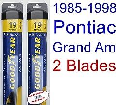 1985-1998 Pontiac Grand Am Replacement Wiper Blade Set/Kit (Set of 2 Blades) (Goodyear Wiper Blades-Assurance) (1986,1987,1988,1989,1990,1991,1992,1993,1994,1995,1996,1997)