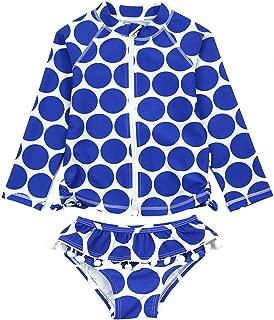 SwimZip Girl Long Sleeve Rash Guard Swimsuit Set UPF 50 Zip18