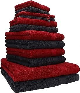 Betz Lot de 12 Serviettes Premium 2 draps de Bain 4 Serviettes de Toilette 2 Serviettes d'invité 2 lavettes 2 Gants de Toi...