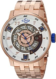 GV2 by Gevril Motorcycle Sport Mens Swiss Automatic Rose Gold Tone Stainless Steel Watch, (Model: 1302B)