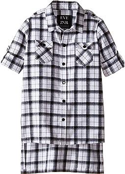 Oversize Button Up Tunic Shirt (Infant/Toddler/Little Kids)
