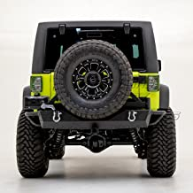 Restyling Factory -Heavy Duty Rock Crawler Rear Bumper with Tire Carrier and 2