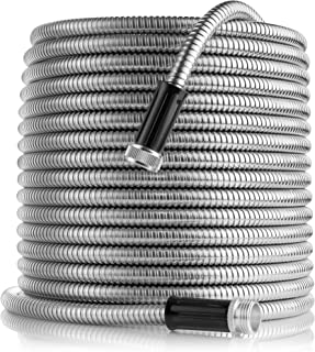 Tardigrade Steel Hose (50' 304 Stainless Steel Garden Hose - Lightweight, Kink-Free, Strong Flex, Metal Water Hoses, Forever Durable and Easy to use as seen on tv