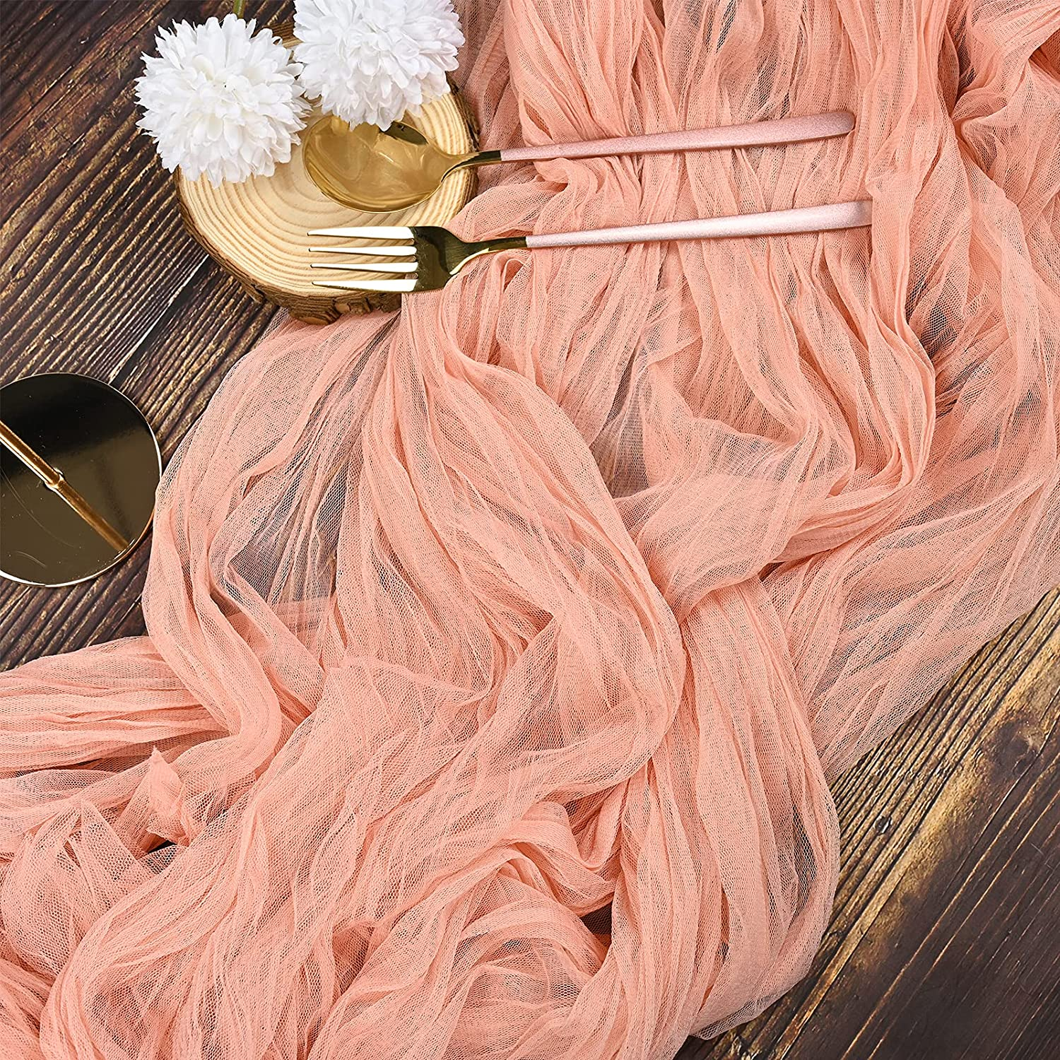 fani 6 Pack10Ft Chiffon Large-scale sale Yarn Sale Special Price Runner Table Cheesecloth Runn