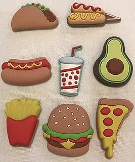 Taco, Hot Dog, Pizza, Hamburger, Avocado, Corn Dogs, Soda & Fries - FUN FOOD MAGNETSun Food Magnets by U Brands