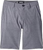O'Neill Kids Locked Stripe Hybrid Shorts (Big Kids)