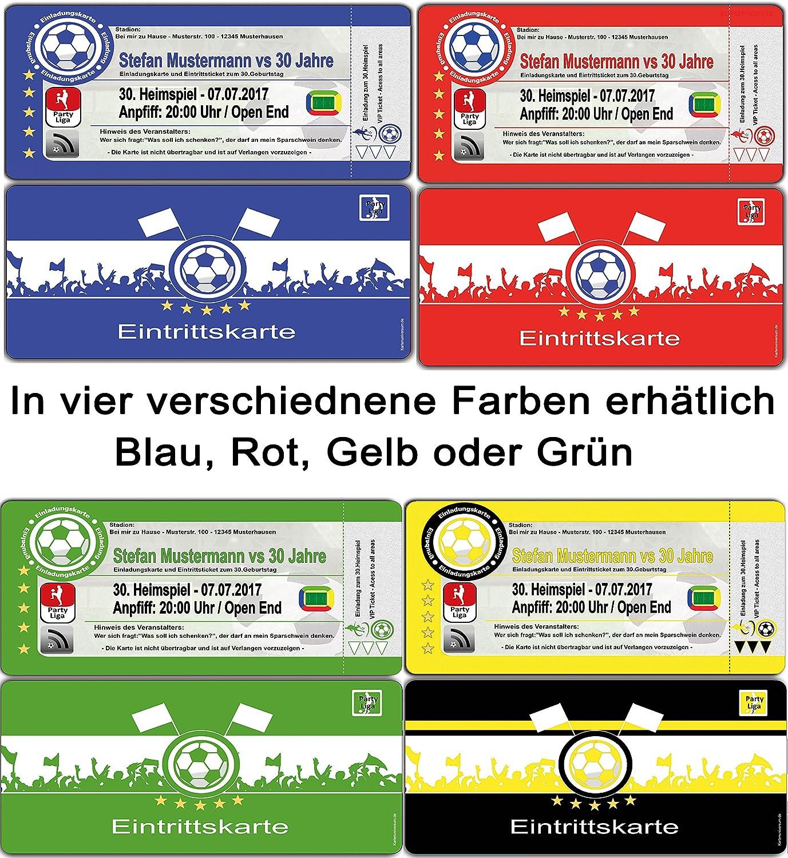 Einladungskarten als Fussballtickets zum Fussball-Geburtstag Feier Party Ticket - 50 Stück Fussballticket Karten Einladung B01EXJA3XM  | Günstige