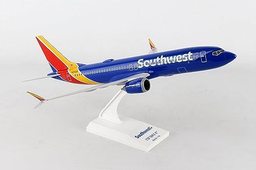 Daron Worldwide Trading Skymarks Southwest 737-MAX8 1 130 W Wifi Dome Model Airplane