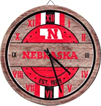FOCO NCAA Wooden Barrel Wall Clock