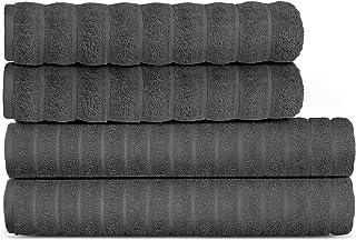 Lavish Touch 650 GSM 100% Long Staple Cotton 4 Piece Set 2 Bath Towels 27 x 64 and 2 Bath Sheets 32 x 64 Premium Hotel Spa...