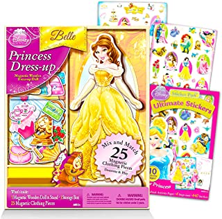 Disney Princess Playset Belle Doll Beauty and The Beast Playset - 26 Pc Disney Beauty and The Beast Playset for Girls Kids...