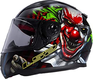 clown face motorcycle helmet