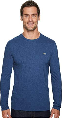 Lacoste - Long Sleeve Pima Jersey Crew Neck Tee Shirt