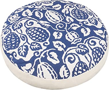 "ELFJOY Round Floor Pillow 20inch Boho Floor Cushion Cotton Linen Cushion Round Pillow Meditation Cushion (Guava) 20"""