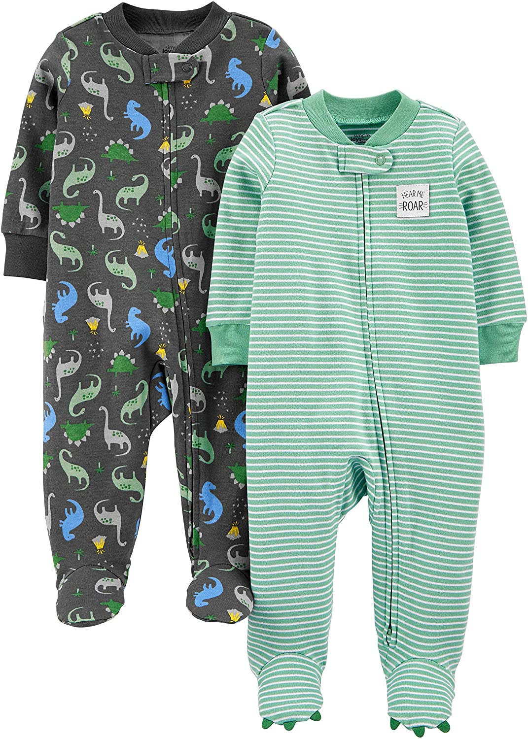 Simple Joys by Carter's Baby Boys' 2-Pack Cotton Footed Sleep and Play: Clothing