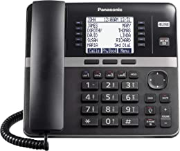 $149 » Panasonic DECT 6.0 Plus 4-Line Telephone System for Small and Midium Business, Corded Base Station (Main Console), Expanda...