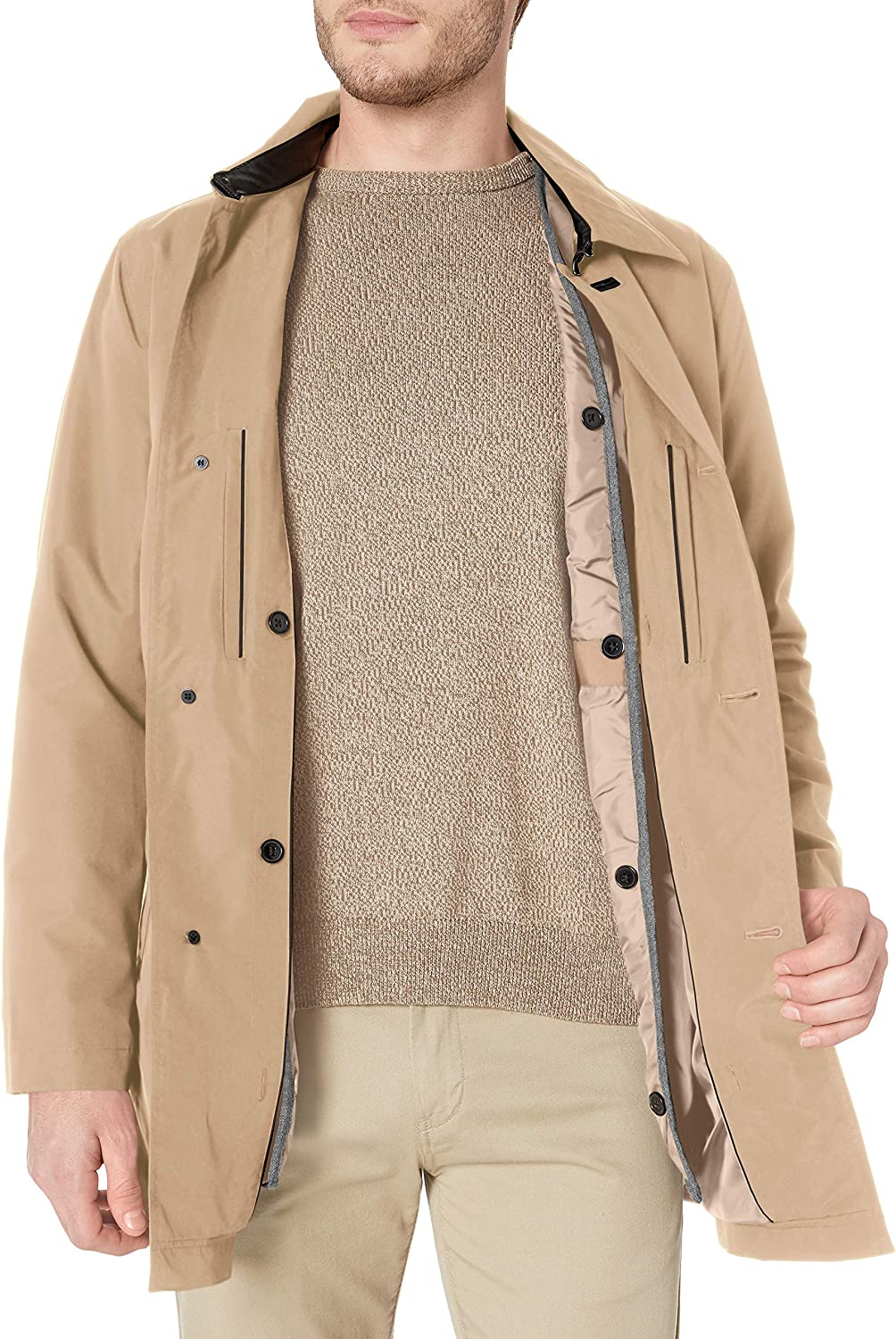 Cole Haan Signature Men's 2-in-1 Car Coat with Removable Lining