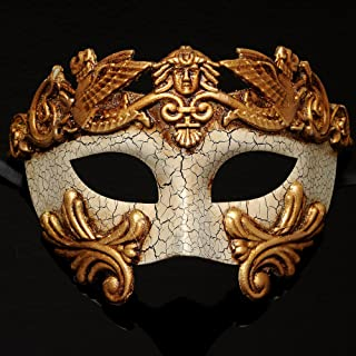 4everStore Gold Roman Masquerade Mask w/ Crackle Acrylic Paint