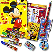 Mickey Mouse Clubhouse Super Set Bundle ~Mickey Mouse Coloring Book with Mickey Mouse Stickers, Markers & Specialty Reward Stickers (13-piece set)