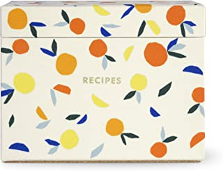 Kate Spade New York Recipe Box with 40 Double Sided Recipe Cards (Citrus Twist)