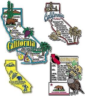 California Four-Piece State Magnet Set