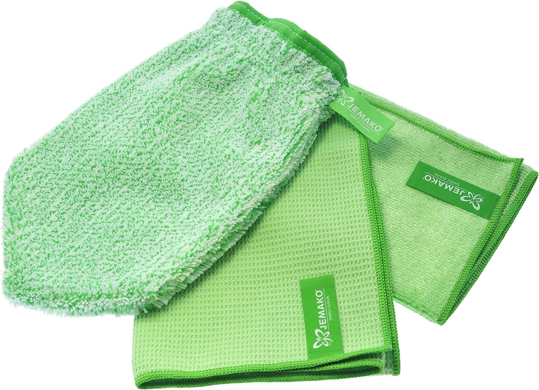 Fenster-Set grün Jemako Profituch plus M 40x45 und Trockentuch M mittel 45x60