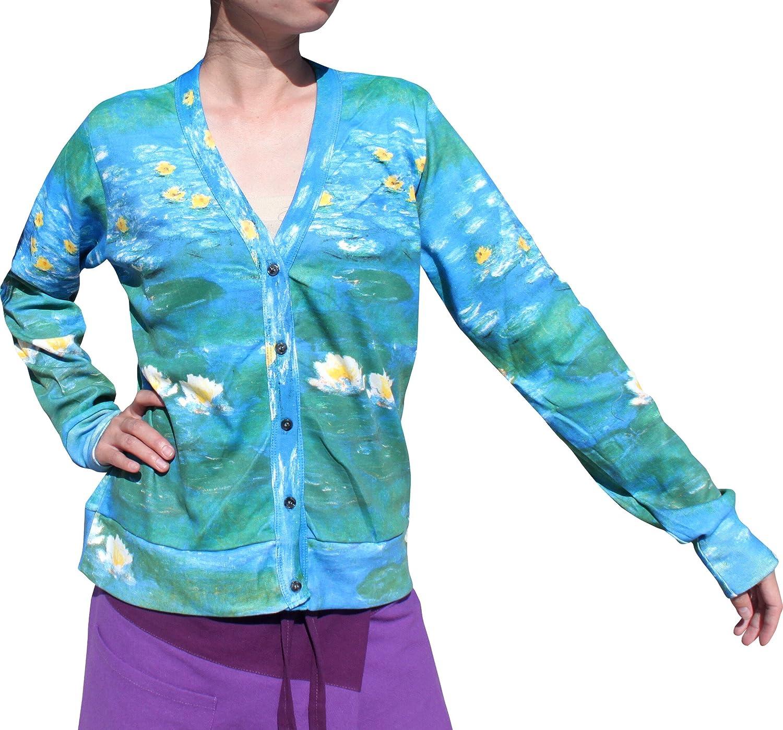 RaanPahMuang Claude Monet Water Lilies Jacket Cardigan