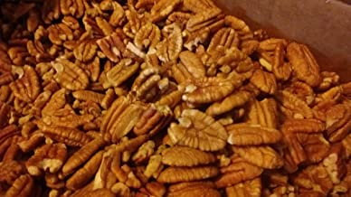 Organic Practice Raw Unpsrayed Fresh Shelled Texas Papershell Junior Mammoth Pecan Halves 2 lb