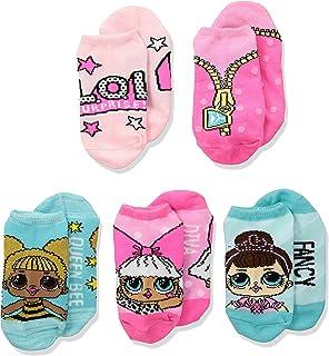 LOL Surprise! Girls 5 Pack No Show Socks