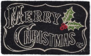 DII Natural Coconut Coir Holiday Season Doormat, 18x30, Chalkboard Merry Christmas