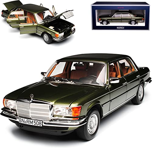 Norev Mercedes-Benz S-Klasse W116 450 SEL 6.9 1976 Grün Metallic 1972-1980 1 18 Modell Auto mit individiuellem Wunschkennzeichen