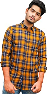 Hifaber Men's Checkered Casual Slim Fit Shirt