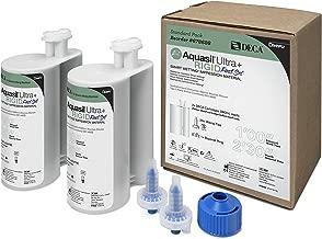Aquasil Ultra+ Deca Smart Wetting Tray Impression Material Vinylpolysiloxane Refill 380 mL Rigid Body Fast Set Light Green Mint 2/Package