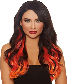 Dreamgirl Women's Long Wavy Layered Three-Piece Hair Extensions, Multi, One Size