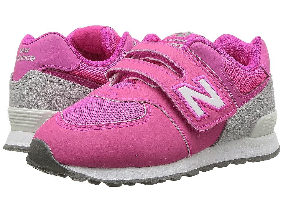 New Balance Kids KX574v1I (Infant/Toddler) (Pink/Grey) Girls Shoes