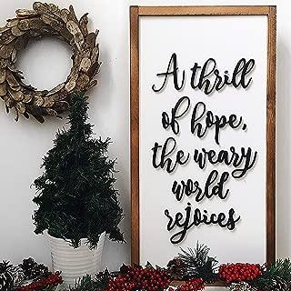 bawansign A Thrill of Hope Christmas Sign O Holy Night Christmas Home Decor Christmas Mantel Decor Christmas Wall Decor Oh holy Night Sign