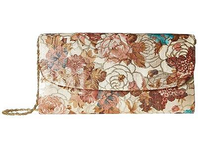 Adrianna Papell Sallie (Champagne) Clutch Handbags