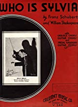 WHO Is Sylvia Sheet Music