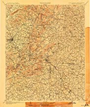 YellowMaps Saluda NC topo map, 1:125000 Scale, 30 X 30 Minute, Historical, 1907, 19.6 x 16.4 in