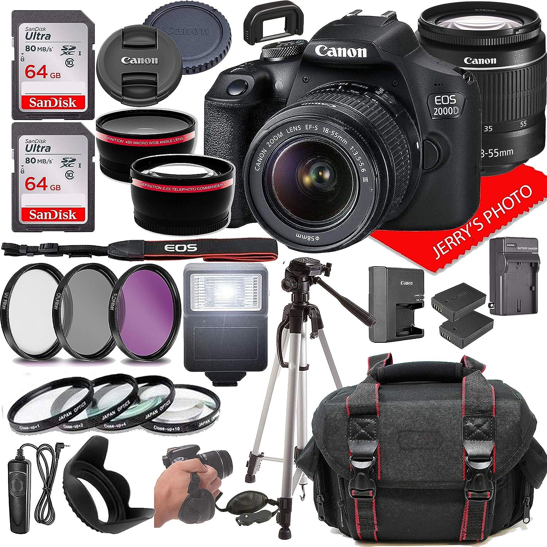 Canon EOS Minneapolis Mall 2000D Rebel T7 DSLR 3. Max 58% OFF 18-55mm w Camera EF-S F