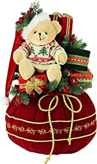 """Windy Hill Collection 18"""" Inch Stuffed Teddy Bear and Presents Bag 188010"""