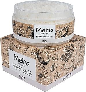 Meina Naturkosmetik - Körperpeeling mit Kokos - Bio Gesichtspeeling und Lippenpeeling für Damen und Herren 1 x 280 g Face, Lip, Body Scrub Peeling